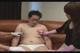 手袋手コキ 01